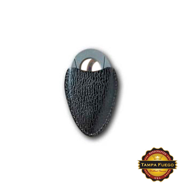 Tampa Fuego Cigar Cutter Case Genuine Shark Black Fits Xikar- SPO Thumbnail 1