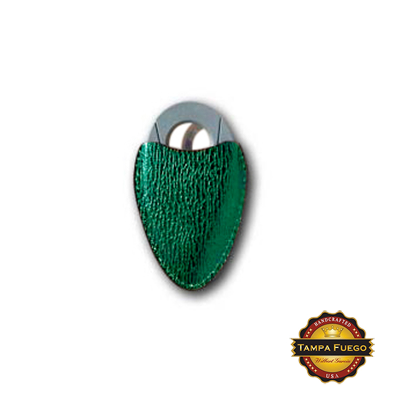 Tampa Fuego Cigar Cutter Case Genuine Shark Green Fits Xikar- SPO Thumbnail 1