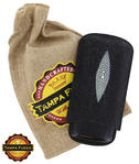 Tampa Fuego Black Cigar Case Exotic Stingray 1/4 Leather  Father's Day Thumbnail 1
