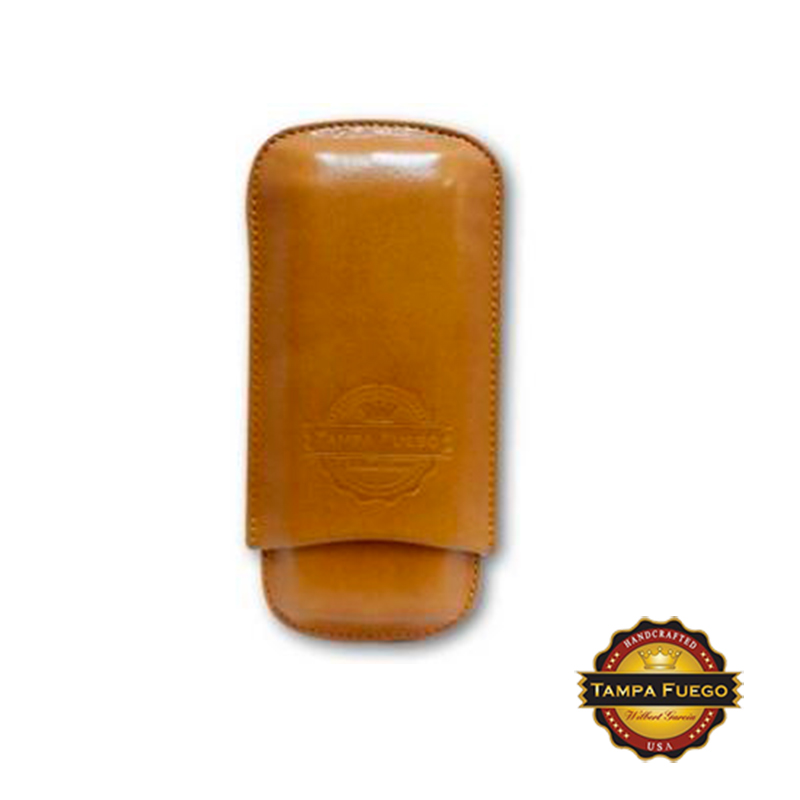 Tampa Fuego Cigar Case Genuine Leather Natural Unlined Father's Day