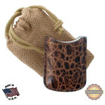 Tampa Fuego Brown Cigar Lighter Case Crocodile Grain Fits Xikar Father's Day Thumbnail 1
