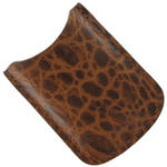 Tampa Fuego Cognac Cigar Lighter Case Crocodile Grain Leather Fits Xikar Thumbnail 3