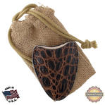 Tampa Fuego Cigar Cutter Case Crocodile Grain Brown Fits Xikar Father's Day
