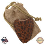 Tampa Fuego Cigar Cutter Case Crocodile Grain Cognac Fits Xikar Father's Day Thumbnail 1