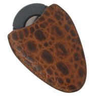 Tampa Fuego Cigar Cutter Case Crocodile Grain Cognac Fits Xikar Father's Day Thumbnail 2