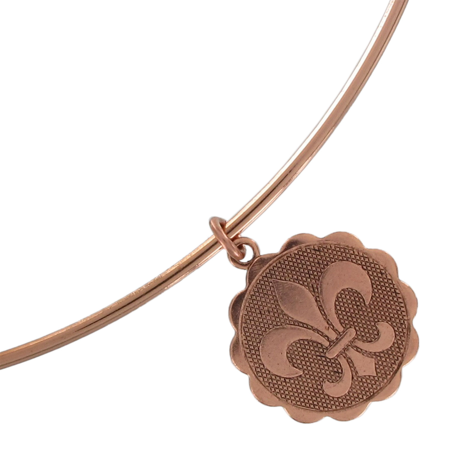usa made rose gold tone collar necklace french fleur de. Black Bedroom Furniture Sets. Home Design Ideas
