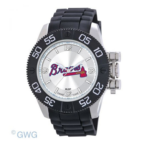 Atlanta Braves Game Time MLB Beast Black Polyurethane Men Watch MTO