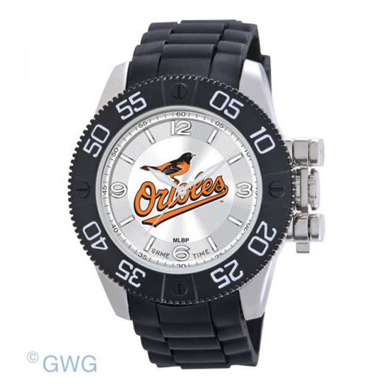 Baltimore Orioles Bird Game Time MLB Beast Black Polyurethane Men Watch MTO