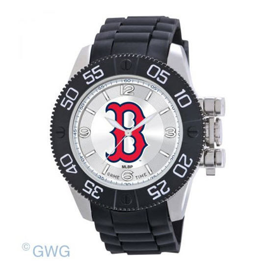 Boston Red Sox B Logo Game Time MLB Beast Black Polyurethane Men Watch MTO