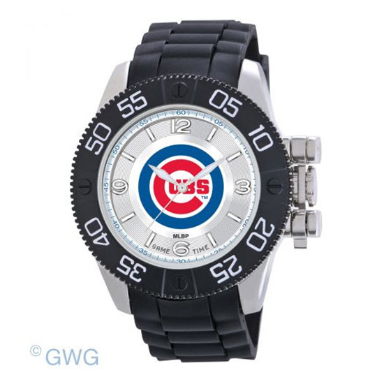Chicago Cubs Game Time MLB Beast Black Polyurethane Men Watch MTO