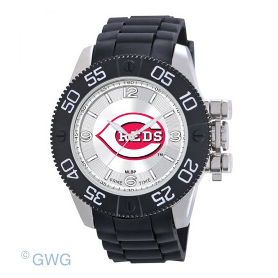 Cincinnati Reds Game Time MLB Beast Black Polyurethane Men Watch MTO