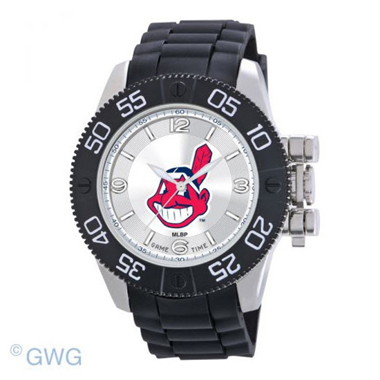 Cleveland Indians Game Time MLB Beast Black Polyurethane Men Watch MTO
