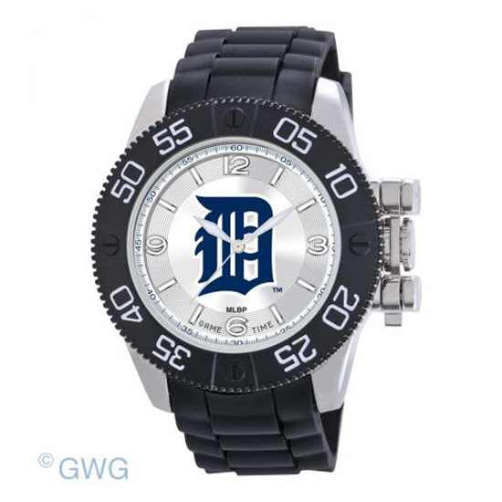 Detroit Tigers Game Time MLB Beast Black Polyurethane Men Watch MTO