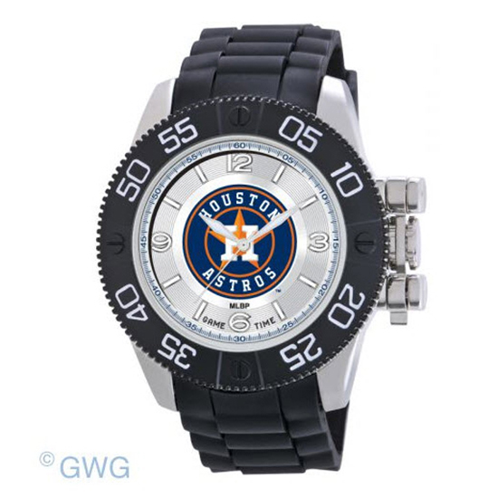Houston Astros Game Time MLB Beast Black Polyurethane Men Watch MTO