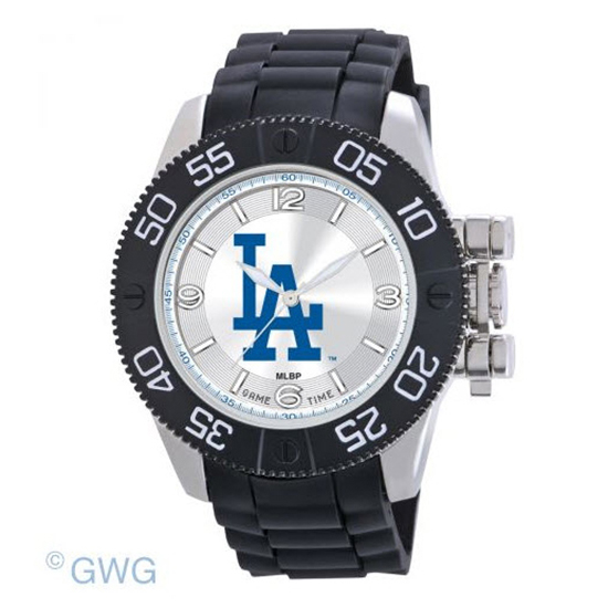 Los Angeles Dodgers Game Time MLB Beast Black Polyurethane Men Watch MTO