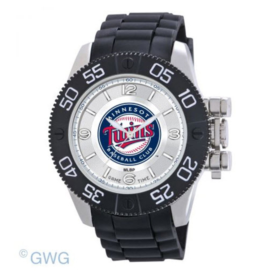 Minnesota Twins Game Time MLB Beast Black Polyurethane Men Watch MTO
