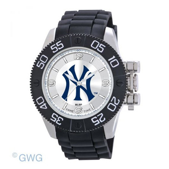 New York Yankees Pinstripe Game Time MLB Black Polyurethane Men Watch MTO