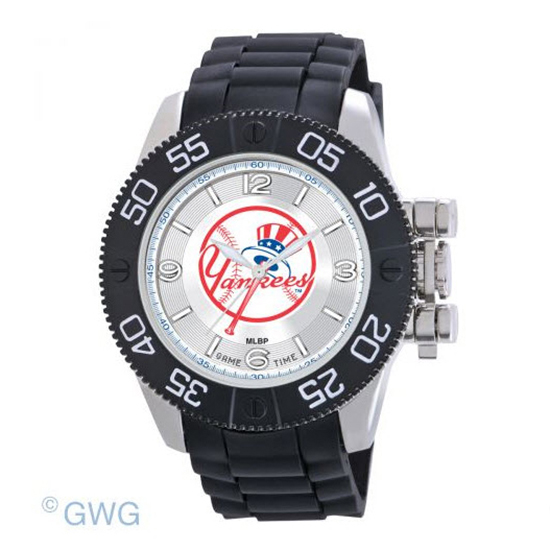 New York Yankees Tophat Game Time MLB Black Polyurethane Men Watch MTO