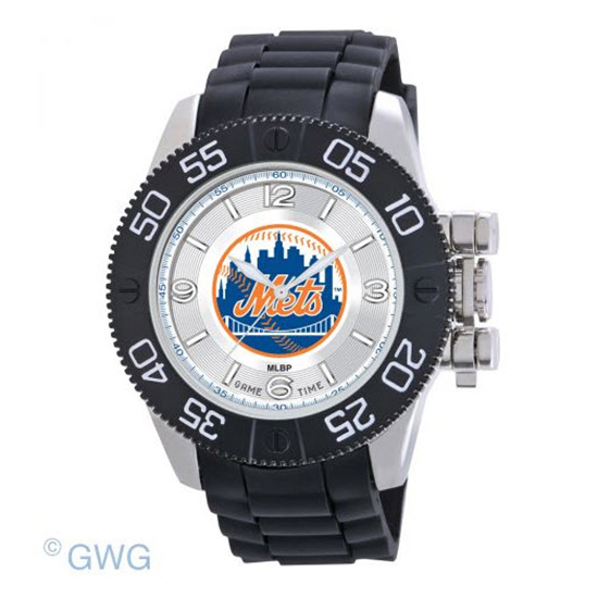 New York Mets Game Time MLB Beast Black Polyurethane Men Watch MTO