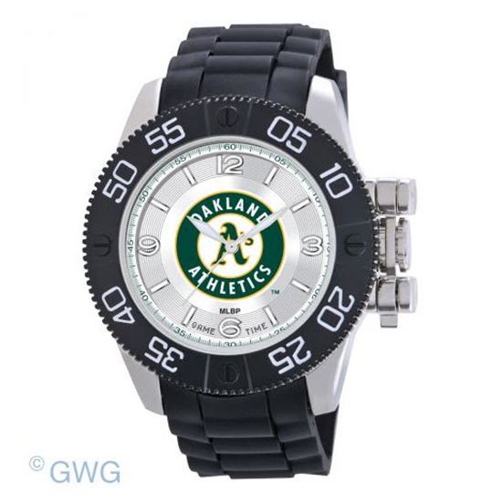 Oakland Athletics Game Time MLB Beast Black Polyurethane Men Watch MTO