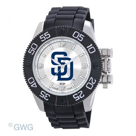 San Diego Padres Game Time MLB Beast Black Polyurethane Men Watch MTO