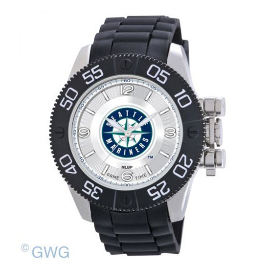 Seattle Mariners Game Time MLB Beast Black Polyurethane Men Watch MTO