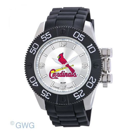 St Louis Cardinals Game Time MLB Beast Black Polyurethane Men Watch MTO