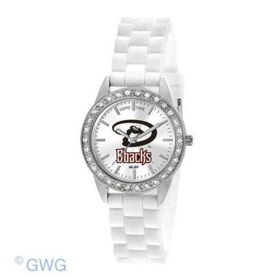 Arizona Diamondbacks Game Time Frost MLB White Silicone Women's Watch MTO