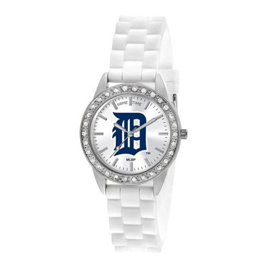 Detroit Tigers Game Time Frost MLB White Silicone Women's Watch MTO