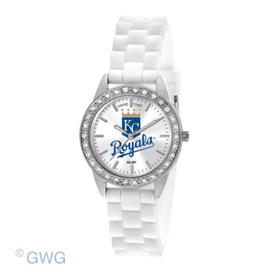 Kansas City Royals Game Time Frost MLB White Silicone Women's Watch MTO