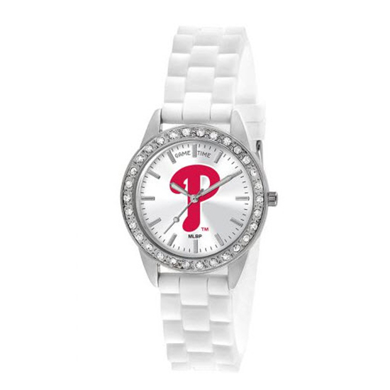 Philadelphia Phillies Game Time Frost MLB White Silicone Women's Watch MTO