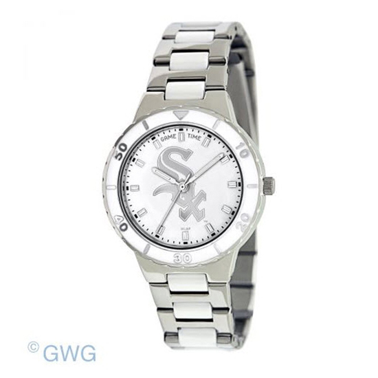 Chicago White Sox MLB Game Time Pearl Silver Tone Women's Dress Watch MTO