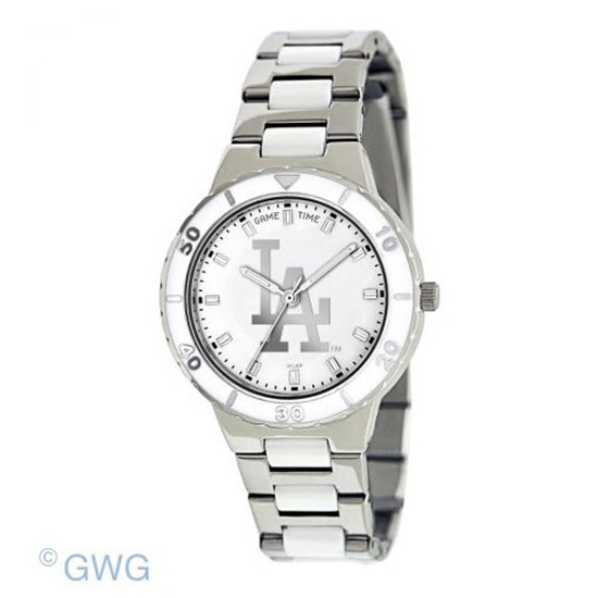 Los Angeles Dodgers MLB Game Time Pearl Silver Tone Women's Dress Watch MTO