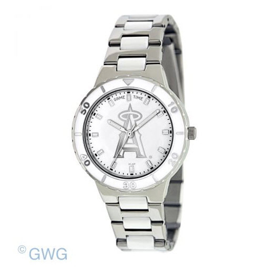 Los Angeles Angels MLB Game Time Pearl Silver Tone Women's Dress Watch MTO