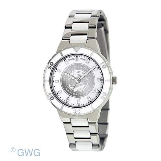 Minnesota Twins MLB Game Time Pearl Silver Tone Women's Dress Watch MTO