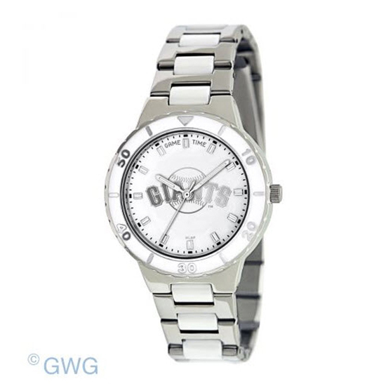 San Francisco Giants MLB Game Time Pearl Silver Tone Women's Dress Watch MTO