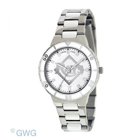Tampa Bay Rays Cardinals MLB Game Time Pearl Silver Tone Women Dress Watch MTO