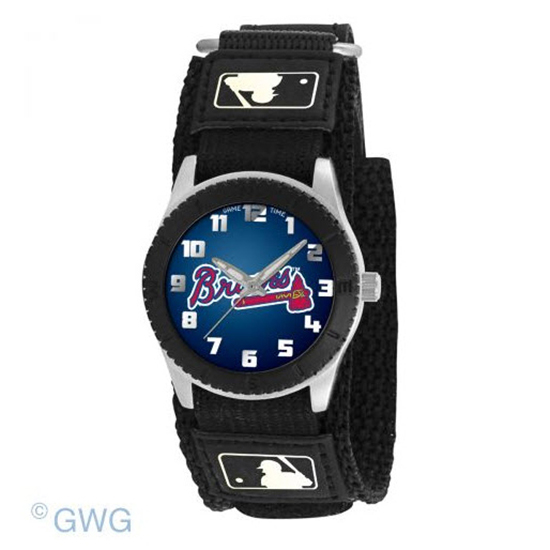 Atlanta Braves Game Time MLB Rookie Black Juniors Cuff Unisex Watch MTO
