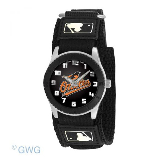 Baltimore Orioles Game Time MLB Rookie Black Juniors Cuff Unisex Watch MTO