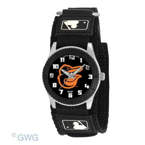 Baltimore Orioles Bird Game Time MLB Rookie Black Juniors Cuff Unisex Watch MTO
