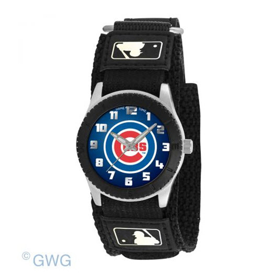 Chicago Cubs Game Time MLB Rookie Black Juniors Cuff Unisex Watch MTO