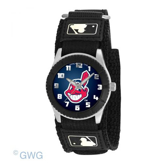 Cleveland Indians Game Time MLB Rookie Black Juniors Cuff Unisex Watch MTO