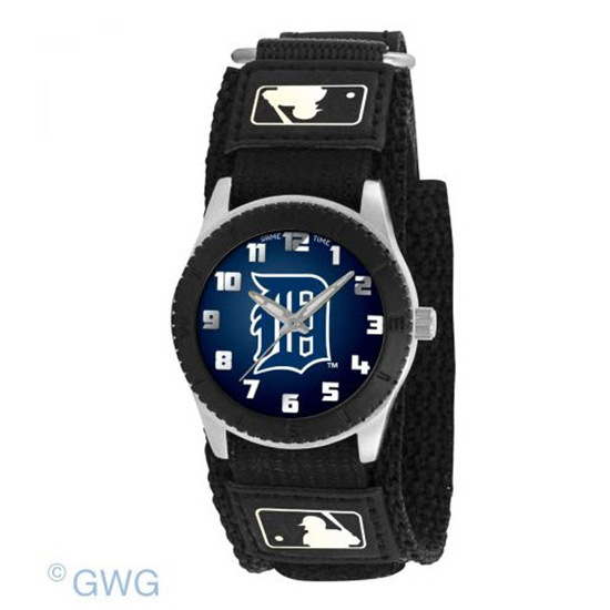 Detroit Tigers Game Time MLB Rookie Black Juniors Cuff Unisex Watch MTO