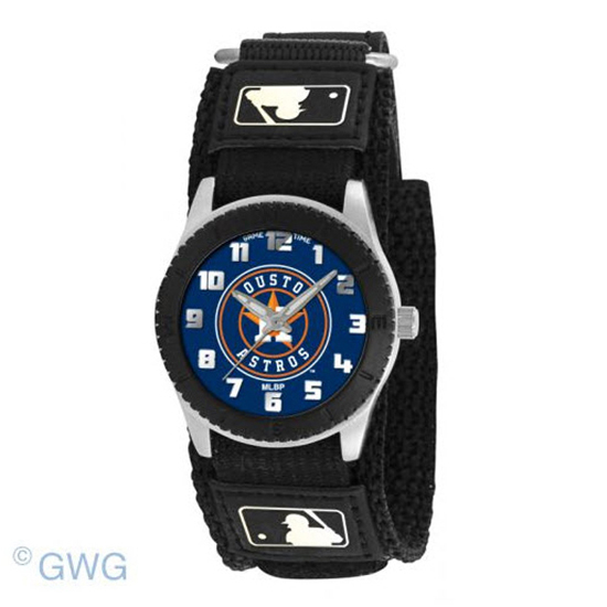 Houston Astros Game Time MLB Rookie Black Juniors Cuff Unisex Watch MTO