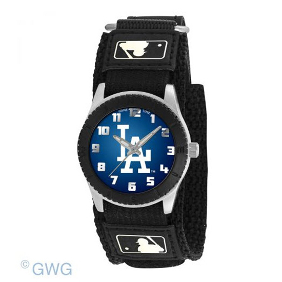 Los Angeles Dodgers Game Time MLB Rookie Black Juniors Cuff Unisex Watch MTO