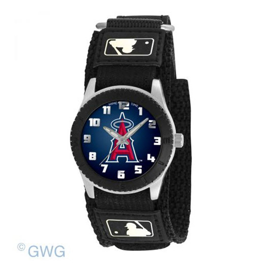 Los Angeles Angels Game Time MLB Rookie Black Juniors Cuff Unisex Watch MTO