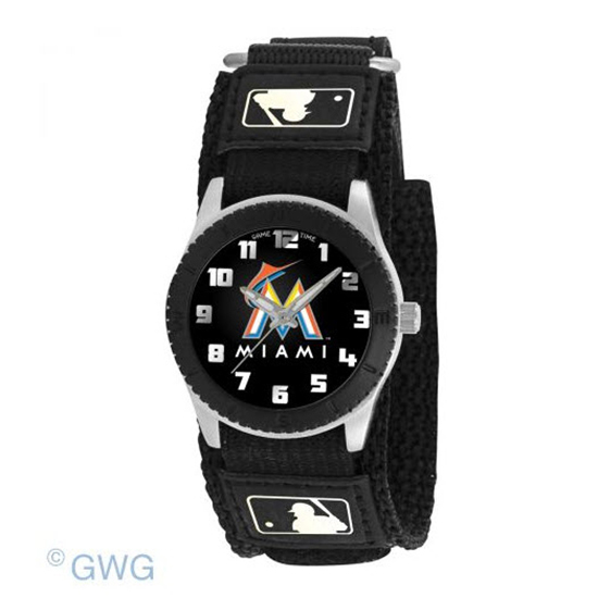 Miami Marlins Game Time MLB Rookie Black Juniors Cuff Unisex Watch MTO