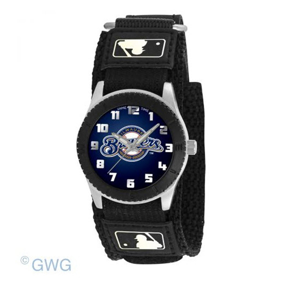 Milwaukee Brewers Game Time MLB Rookie Black Juniors Unisex Watch MTO