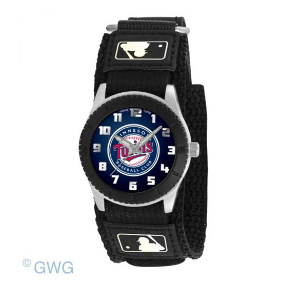 Minnesota Twins Game Time MLB Rookie Black Juniors Unisex Watch MTO
