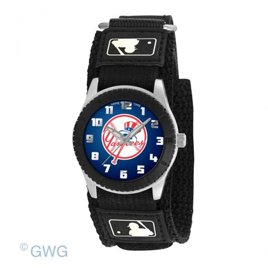 New York Yankees Tophat Game Time MLB Rookie Black Juniors Unisex Watch MTO